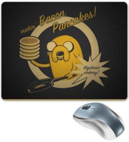 """Коврик для мышки """"bacon pancakes"""" - adventure time, время приключений, джейк, jake the dog"""