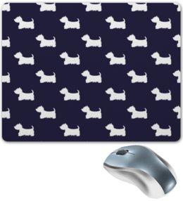 """Коврик для мышки """"Собачки"""" - животные, пес, собаки, щенки, терьер"""