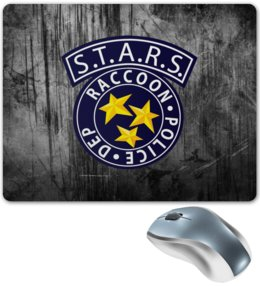 "Коврик для мышки ""S.T.A.R.S."" - игры, stars, resident evil"
