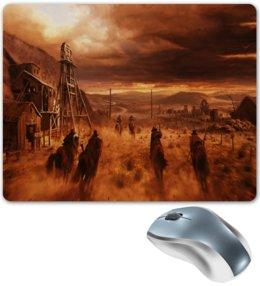 """Коврик для мышки """"Ковбои"""" - игры, компьютерные игры, пейзаж, пустыня, ковбои"""