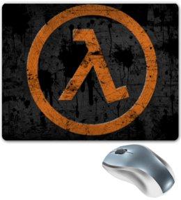 """Коврик для мышки """"half-life logo """" - life, half"""