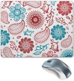 """Коврик для мышки """"Цветочный"""" - цветочный, узор, рисунок, стиль, орнамент"""