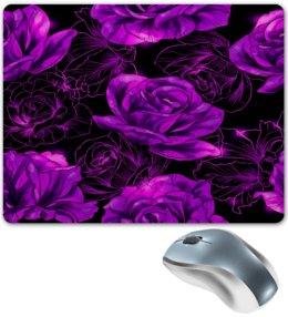 """Коврик для мышки """"Розы в цвету"""" - цветы, фиолетовый, весна, цветочки, розы"""