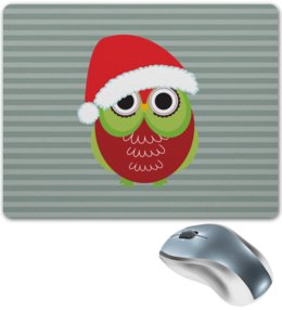 """Коврик для мышки """"Сова в шапке"""" - новый год, зима, сова, шапка, совы"""