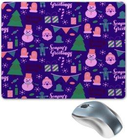 """Коврик для мышки """"Новый год"""" - праздник, новый год, рождество, снежинки, christmas"""
