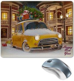"Коврик для мышки ""Happy New Year"" - новый год, автомобиль, подарки, car, happy hew year"