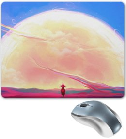 """Коврик для мышки """"Digital"""" - sky, небо, мотоцикл, motorcycle, digital art"""