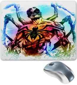 "Коврик для мышки ""Pop Art"" - арт, комиксы, марвел, железный человек паук"