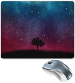"Коврик для мышки ""Звездное небо"" - звезды, небо, природа, пейзаж, дерево"
