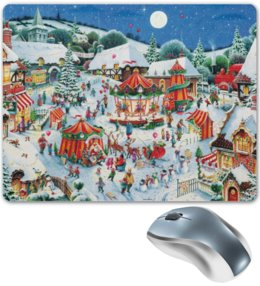 "Коврик для мышки ""Новый год"" - новый год, new year, winter, holiday, праздник, зима, ярмарка, fair"