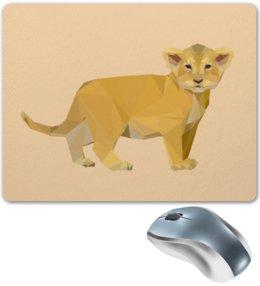 """Коврик для мышки """"Молодой тигрёнок."""" - африка, тигр, животное, ребёнок, тигрёнок"""