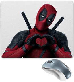 """Коврик для мышки """"Love Deadpool"""" - сердце, комиксы, marvel, марвел, дэдпул"""