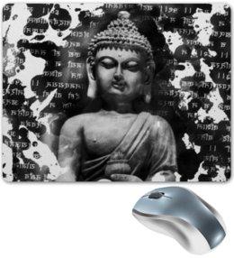 """Коврик для мышки """"Будда (Письмена)"""" - философия, buddha, будда, буддизм, духовность"""