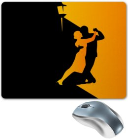 "Коврик для мышки ""Танго в ночи"" - музыка, танец, ночь, танго"