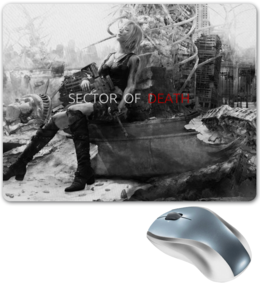 "Коврик для мышки ""Sector of death"" - девушка, апокалипсис, постапокалипсис, оружие, sector of death"