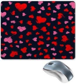 """Коврик для мышки """"Сердце"""" - сердце, любовь, узор, надписи, день влюбленных"""