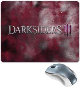 "Коврик для мышки ""Darksiders"" - игры, компьютерные игры, надписи, darksiders, дарксайдерс"