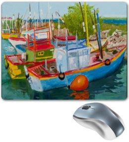 """Коврик для мышки """"Рыбацкие лодки в Мирисе"""" - арт, импрессионизм"""