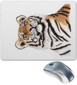 """Коврик для мышки """"Взгляд тигра"""" - хищник, животные, взгляд, тигр, зверь"""