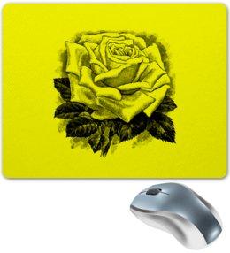 """Коврик для мышки """" Цветок"""" - цветы, роза, розы, букет, шипы"""