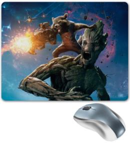 """Коврик для мышки """"Ракета и Грут"""" - комиксы, марвел, стражи галактики, groot, guardians of the galaxy"""