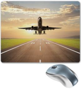 """Коврик для мышки """"коврик для мыши"""" - самолет, авиа, авиация, pilot, пилот, aviation"""
