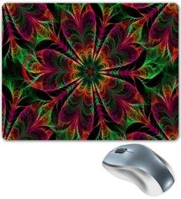 """Коврик для мышки """"Абстрактный цветок"""" - цветы, узор, цветок, абстракция, цветные"""