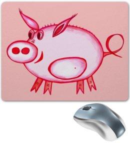 """Коврик для мышки """"Розовый поросенок"""" - арт, счастье, малыш, свин, розовый поросенок"""