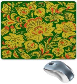 """Коврик для мышки """"Расписные цветы"""" - цветы, узор, весна, природа, хохлома"""