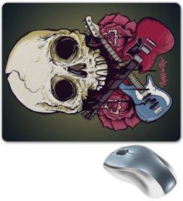 "Коврик для мышки ""Rock in Rio - фестиваль рок музыки"" - skull, череп, heavy metal, рок музыка, хеви метал"