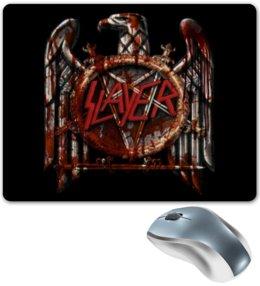 "Коврик для мышки ""SLAYER "" - музыка, рок, металл, slayer, thrash metal"