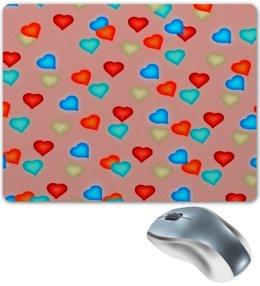 """Коврик для мышки """"Сердечки"""" - любовь, сердца, день святого валентина, сердечки, я люблю"""