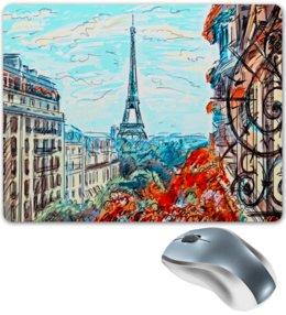 "Коврик для мышки ""Париж"" - город, краски, природа, париж, эйфелева башня"