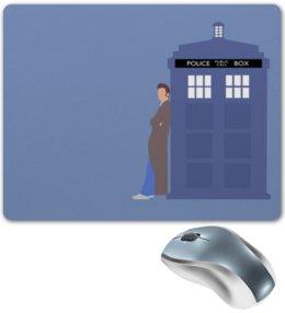 """Коврик для мышки """"Доктор Кто и ТАРДИС / Doctor Who & TARDIS"""" - doctor who, tardis, доктор кто, тардис, дэвид теннант"""