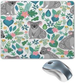 """Коврик для мышки """"Природа"""" - листья, природа, узор, деревья, животные"""