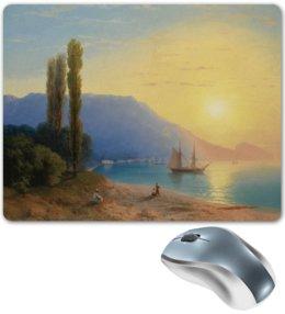 """Коврик для мышки """"Закат в Ялте (картина Айвазовского)"""" - картина, пейзаж, живопись, крым, айвазовский"""