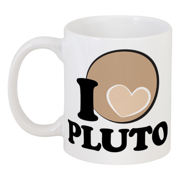 Кружка Printio Я люблю плутон планета на которой убивают