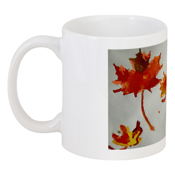 Кружка Printio Осенние листья бусы из янтаря осенние краски
