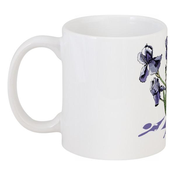 Кружка Printio Цветок ириса в стиле скетч цена