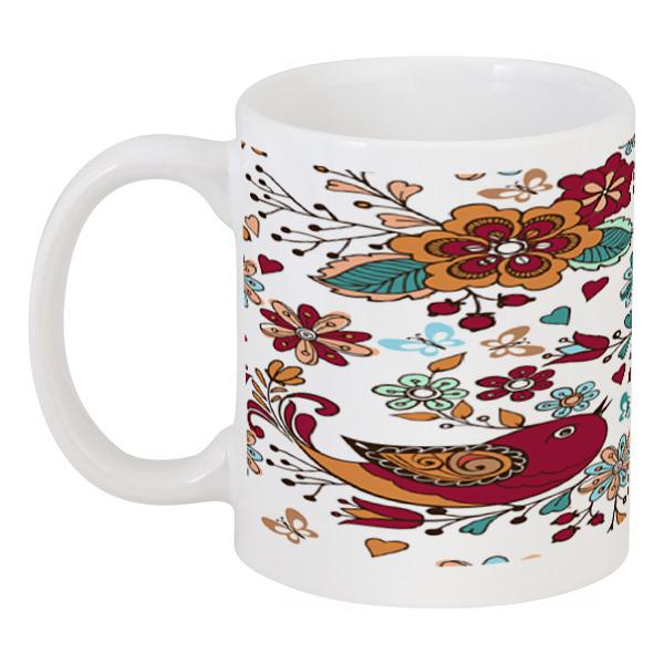Кружка Printio Птицы и цветы масленка imari цветы и птицы imb0360 a2210al