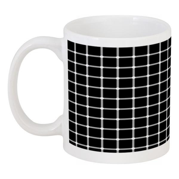 Кружка Printio Чёрная клетка пересечения