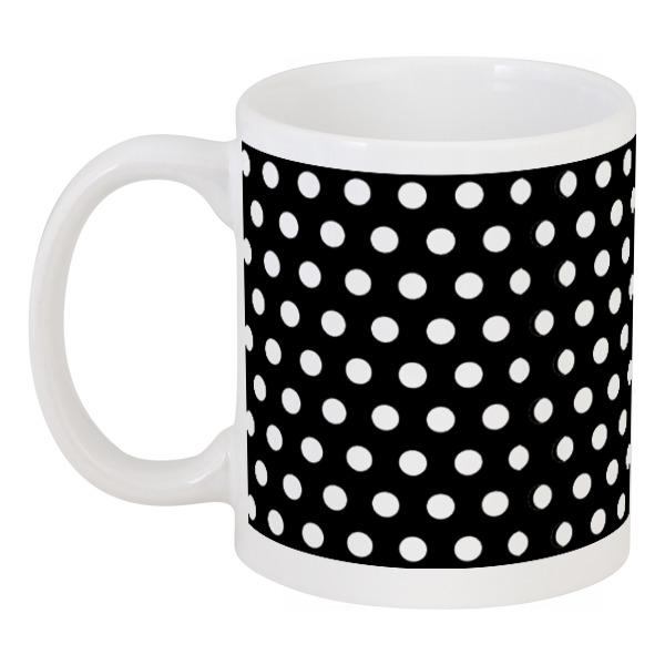 Кружка Printio Белый горох на чёрном фоне юбка карандаш укороченная printio белый горох