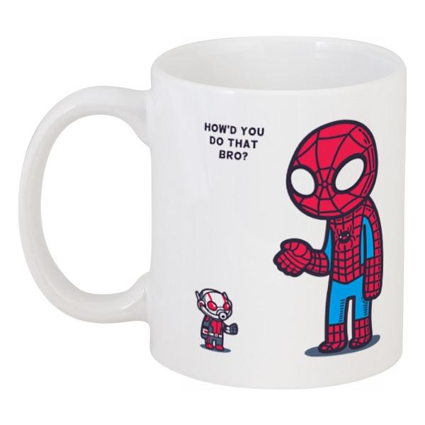 Кружка Printio Человек паук и человек муравей капитан америка удивительный человек паук 2 железный человек перчатки мультфильм детей игрушки передатчик