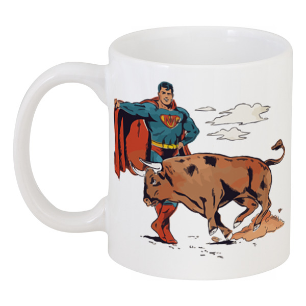 Кружка Printio Супермен матадор как пневматику эдган матадор
