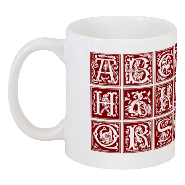 Кружка Printio Декоративный латинский алфавит xvi века