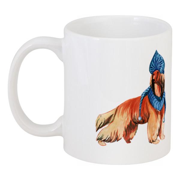 Кружка Printio Акварельная новогодняя собака футболка классическая printio акварельная новогодняя забавная собака