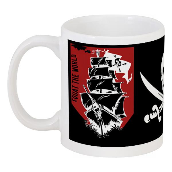 Кружка Printio Пиратский корабль александра треффер под пиратским флагом фантазии натему произведений р сабатини