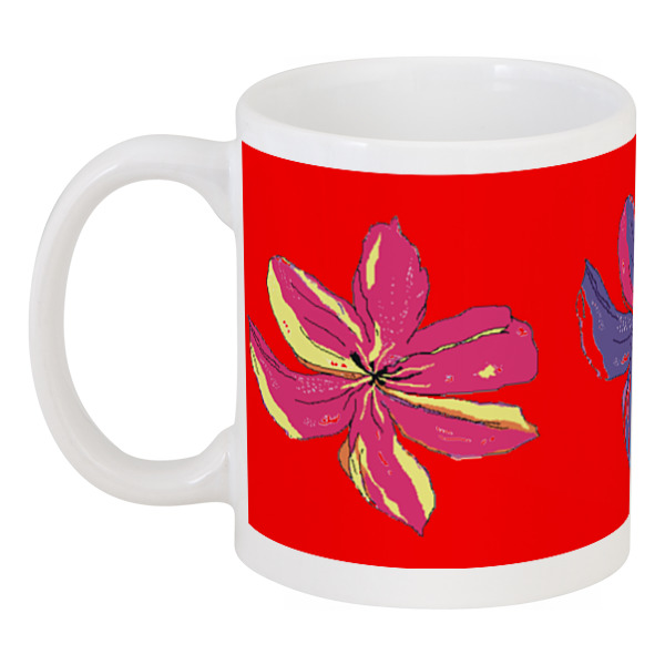 Кружка Printio Лилии mug lilies creative ceramic mug 3d animation model lovely gift for girl