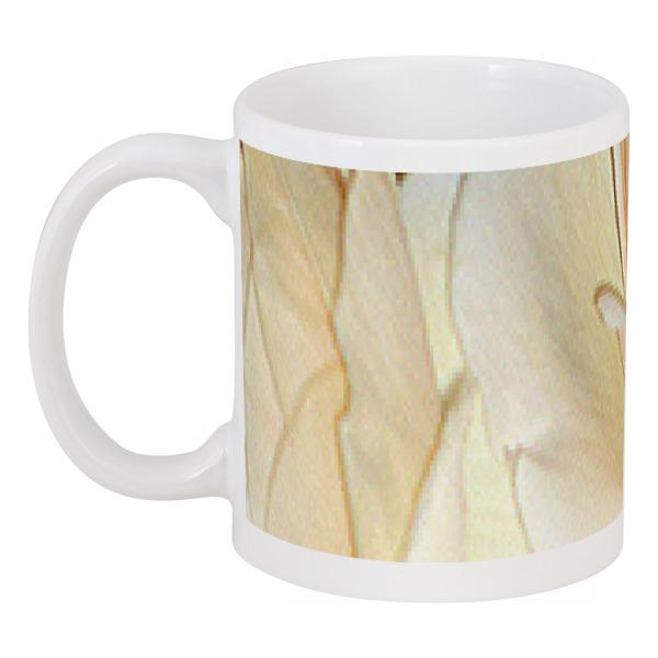 Кружка Printio Нежные лепестки. бусы из перламутра и хрусталя лепестки