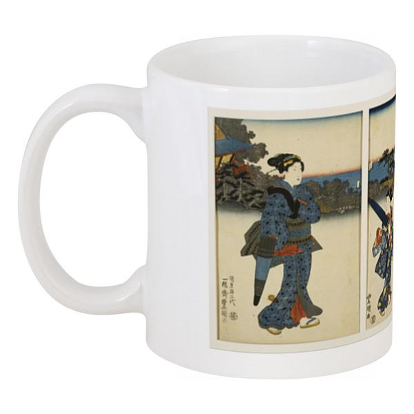 Printio Куртизанки гуляющие у моря (утагава кунисада) фартук с полной запечаткой printio борец сумо утагава кунисада